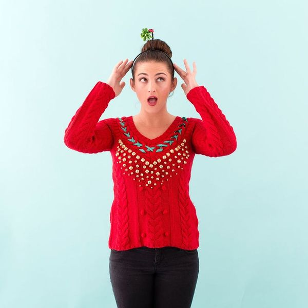 How to DIY a Tacky Holiday Sweater You'll Actually Want to Wear