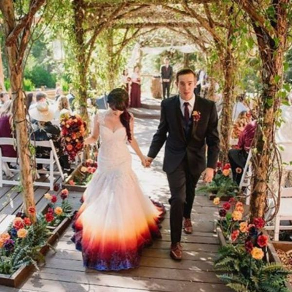 You NEED to See This Bride's Gorgeous Airbrushed Wedding Dress Creation