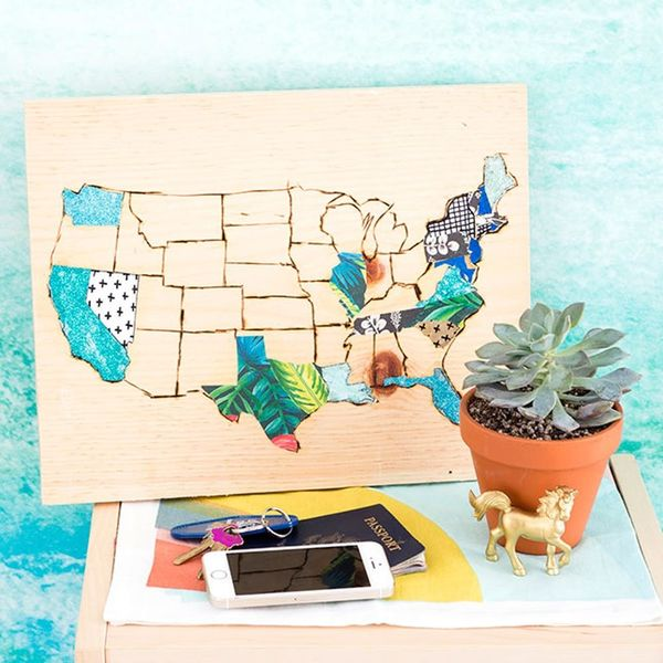 Track Your Summer Memories With This Wooden Engraved Map