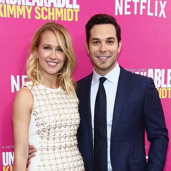 Pitch Perfect Stars Anna Camp + Skylar Astin Had a Joint Bachelor/Bachelorette Party