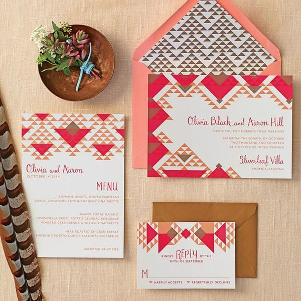 These Geometric Wedding Invites Are Everything Your Modern Dreams Are Made Of