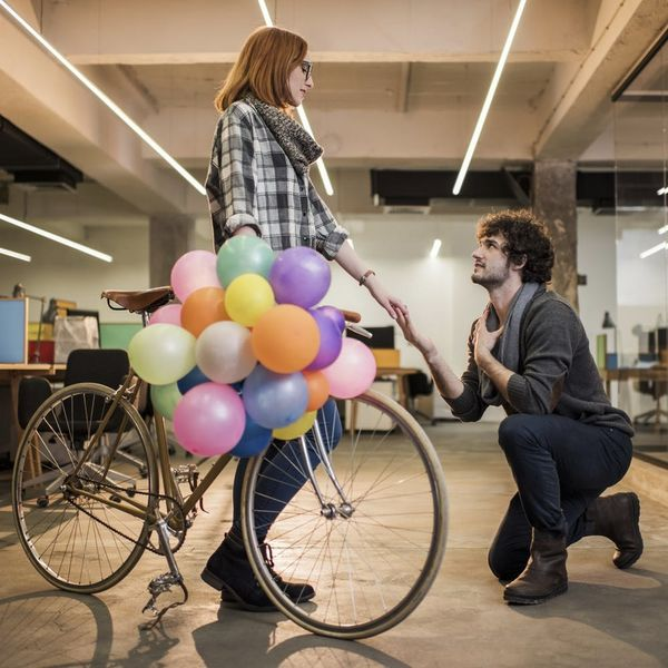 Here's Why Proposals Happen on One Knee