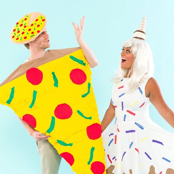 This Pizza + Ice Cream Couples Costume Is for (Junk Food) Lovers
