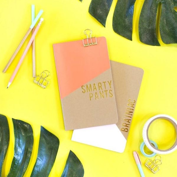 What to Make This Weekend: Gold Foil Notebooks, Watercolor Wall Art + More