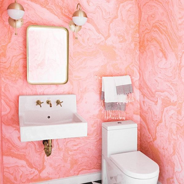 18 Pink Bathrooms That Are Downright Swoon-Worthy