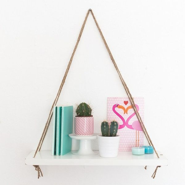 Follow These 4 Easy Steps and Make This Anthro-Inspired Swing Shelf
