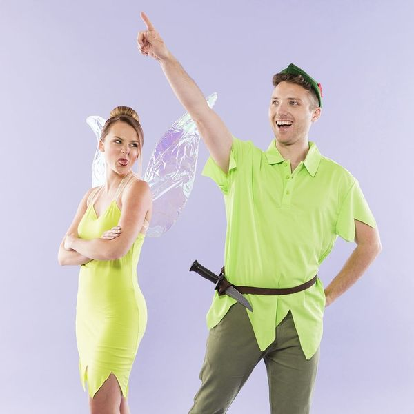 Never Grow Up With This DIY Peter Pan and Tinkerbell Couples Costume