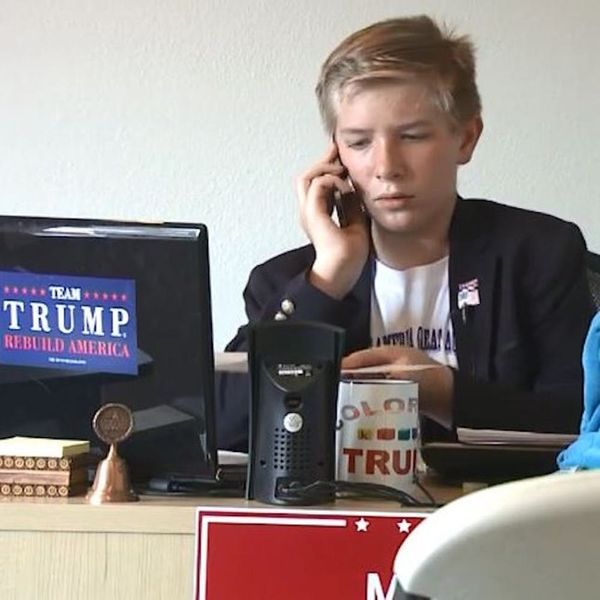 This 12-Year-Old Is Running a Trump Campaign Office —Seriously