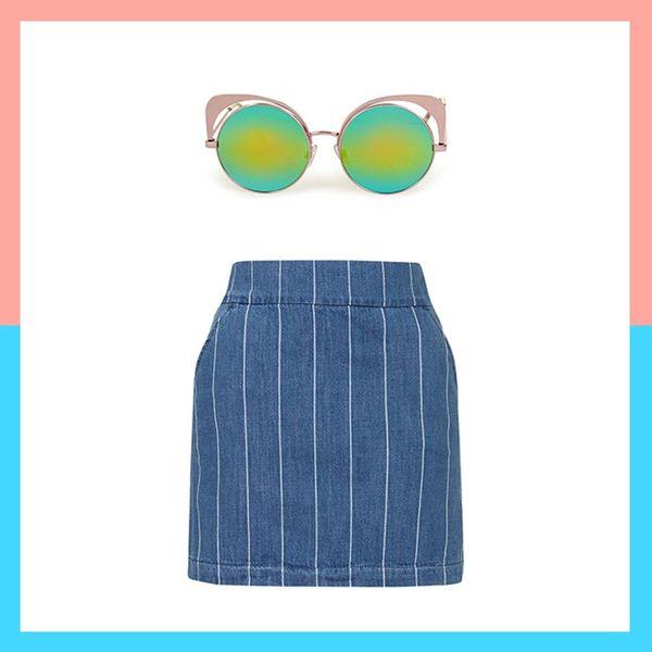 12 Denim Skirt Pairings for Die-Hard '90s Girls