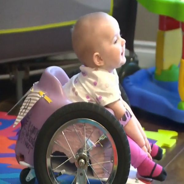 This Mom Crafted a Homemade Wheelchair for Her Baby Using Pinterest