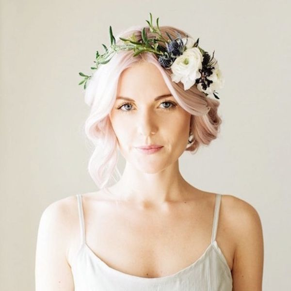 7 Brides Who Totally Pulled Off Pastel Hair