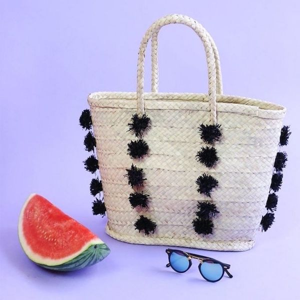 27 Playful Straw Bags for Every End-of-Summer #OOTD