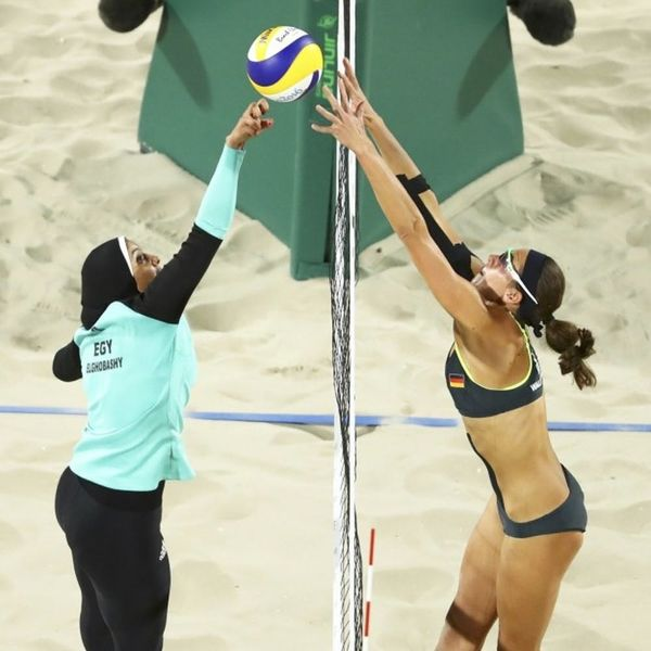 This Photog's Olympic Beach Volleyball Pic Has Sparked Some Serious Controversy
