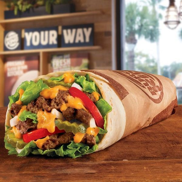"""Burger King's New """"Whopperrito"""" Is the Snack Mashup of Your Fast Food Nightmares"""