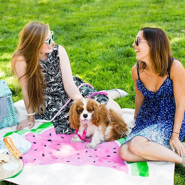 How to Make Picnic Blankets Out of Drop Cloths