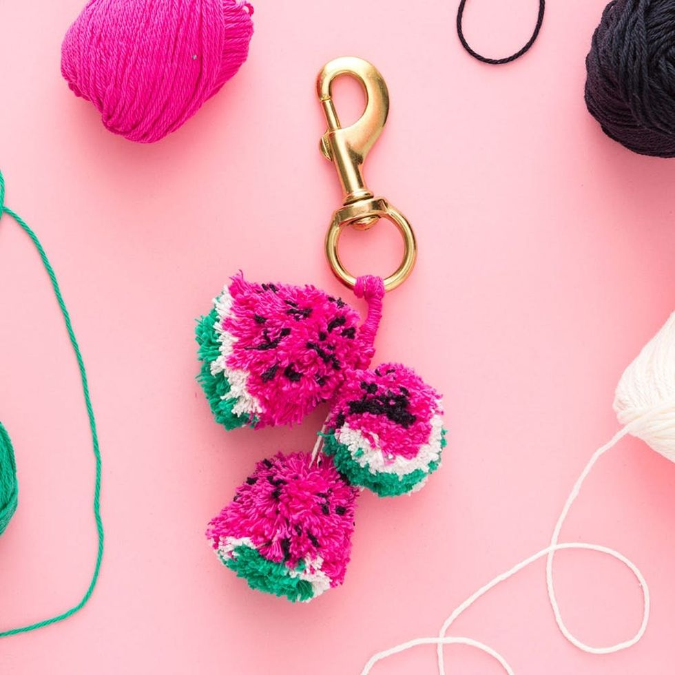 Your Accessories Just Got Cuter With This Watermelon Pom Pom Keychain