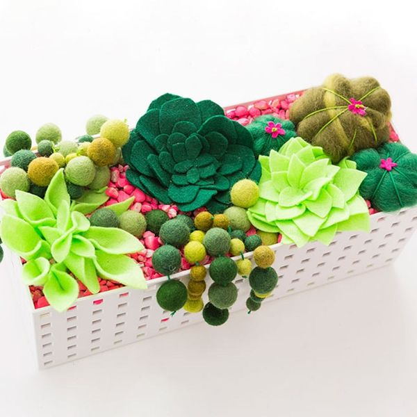 Use Felt to Create a Succulent Planter Box That Will Never Die