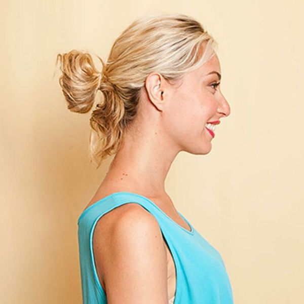 Hack This Chic Model Bun in Less Than Five Minutes