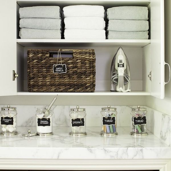 15 Awesome Storage Ideas For Small Laundry Spaces Brit Co