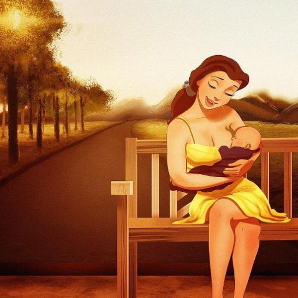 This Artist Draws Disney Princesses As Moms and They're Relatable AF