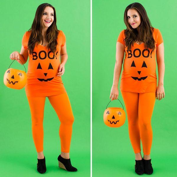 Halloween Hack: Pumpkin Costume in a Pinch