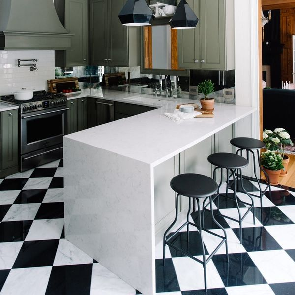 This Blogger's Affordable Modern Kitchen Makeover Is All Kinds of Cool