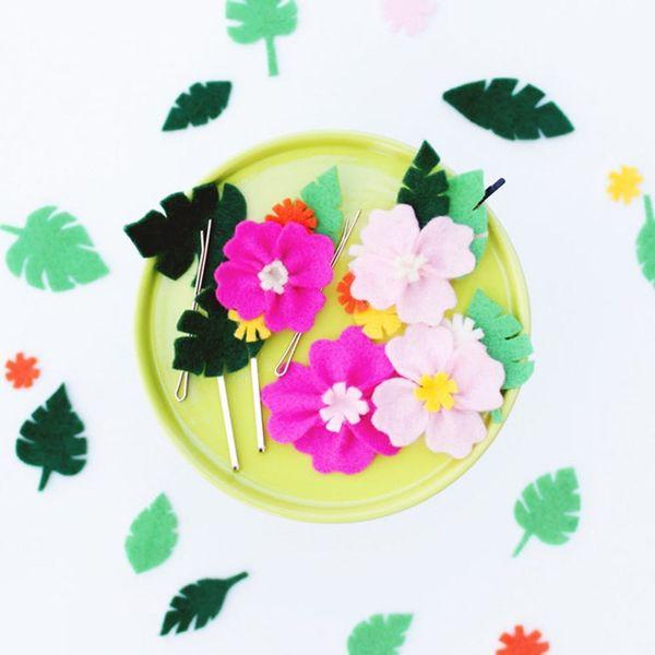 Celebrate the Summer With DIY Hawaiian Floral Hair Pins