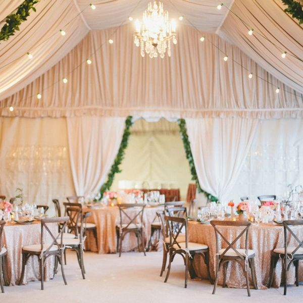 15 Gorgeous Ways to Decorate Your Wedding Tent