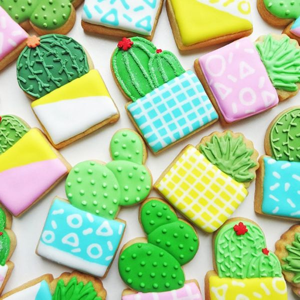 The Best Way to Make Cactus Cookies That Are Cute AF
