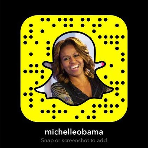 Snaps to Our First Lady: Michelle Obama Is Now on Snapchat