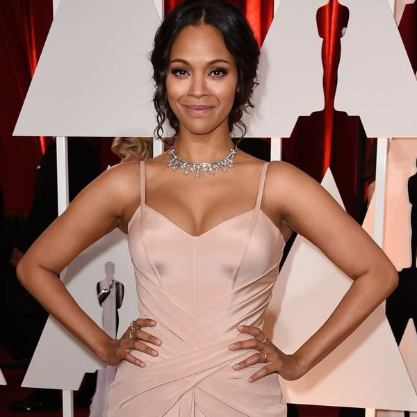 Zoe Saldana Says These Instagram Hashtags Helped Her Lose the Baby Weight