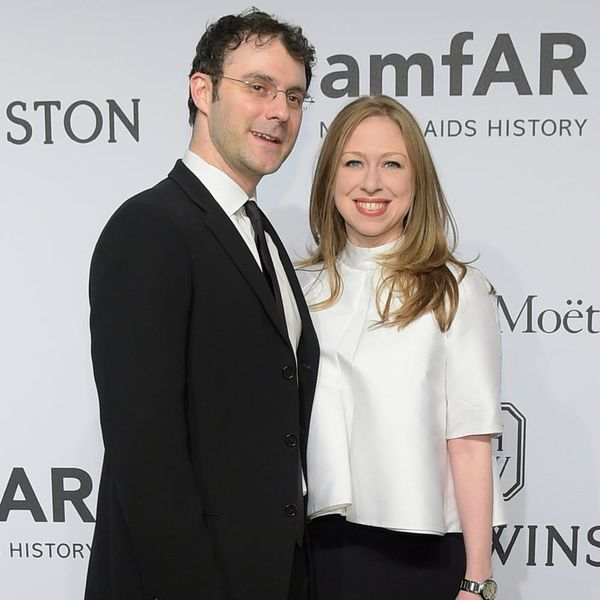These Are the Adorable First Photos of Chelsea Clinton's Baby Meeting His Grandparents on Father's Day