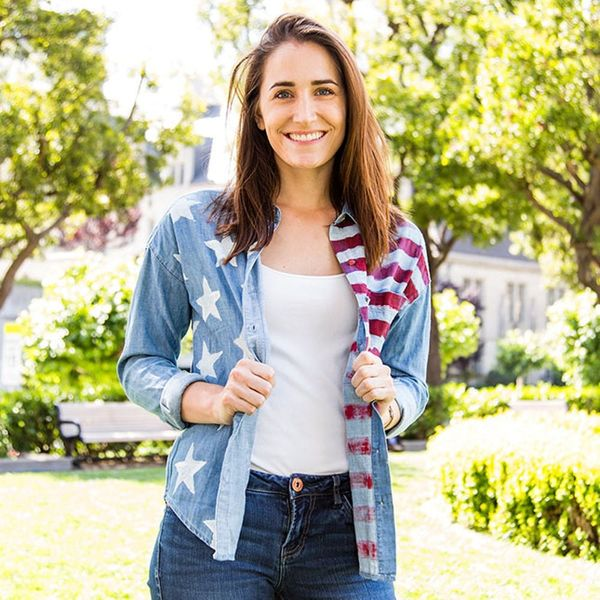 Make a Stars and Stripes Chambray Shirt for the 4th of July