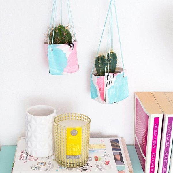 DIY These Hanging Leather Planters to Spruce Up Your Home