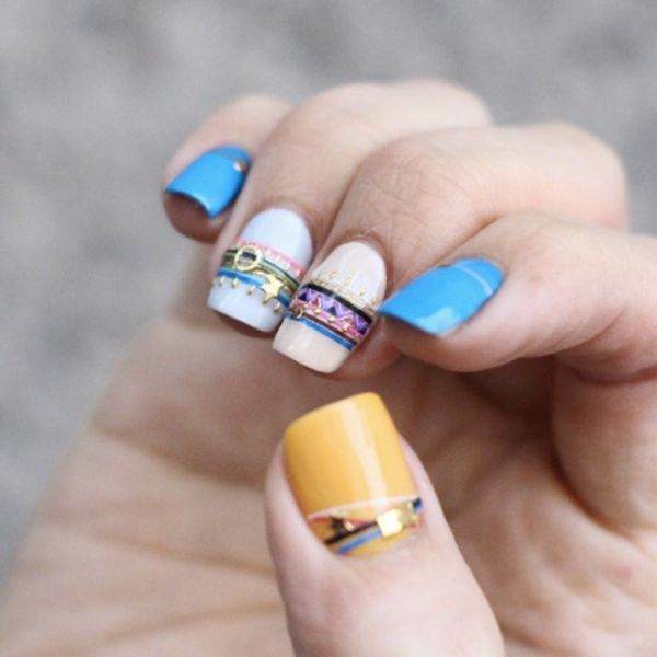 Bracelet Nails Are *the* Bling Your Summer Mani Needs