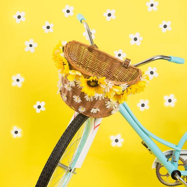 Ride in Style With This 30-Minute Flower Bike Basket DIY Project
