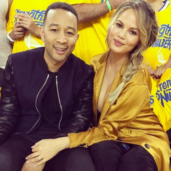 Chrissy Teigen Pulled Off the Most Hilarious Baby Prank at Last Night's NBA Game