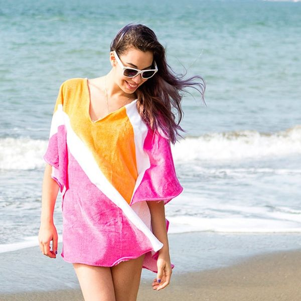 Say Goodbye to Soggy Cover-Ups With This DIY Beach Towel Poncho