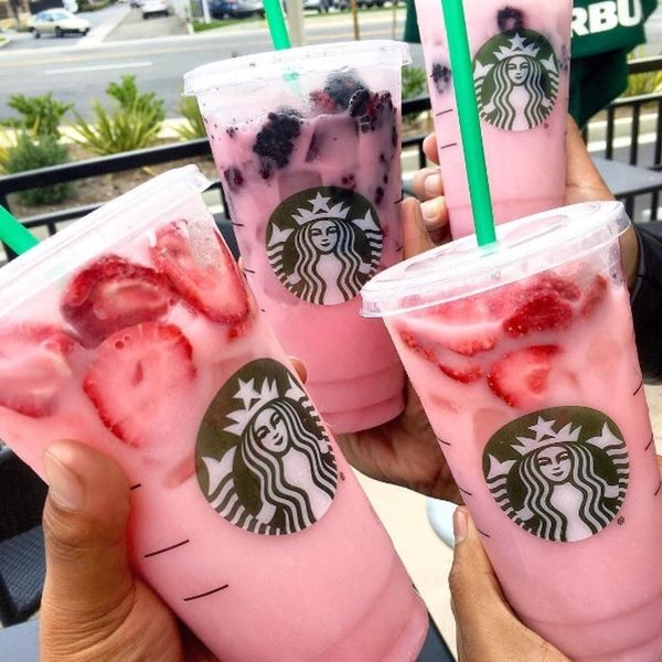 Here's What's in Starbucks' Secret New Pink Drink That's Sweeping the Internet