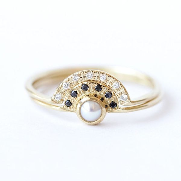 10 Modern Pearl Engagement Rings That Aren't Your Grandmother's