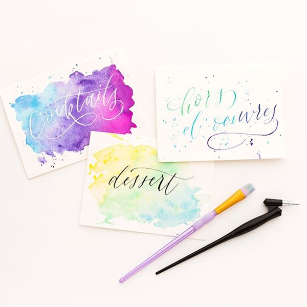 Our New Online Class Pairs Watercolor + Calligraphy for the Best Invites Ever