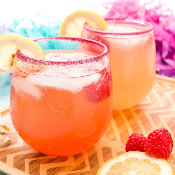 Summer Was Made for This Spiked *Glitter* Raspberry Lemonade