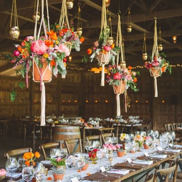 9 Hanging Wedding Centerpieces That Will Take Your Decor to a Whole Other Level