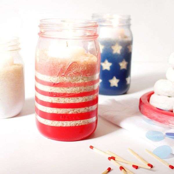 Light It Up on Memorial Day With These Ombre Mason Jar Candle Holders