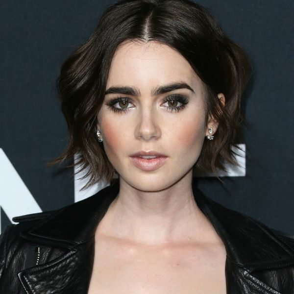 You Won't Believe What Color Lily Collins Just Dyed Her Hair