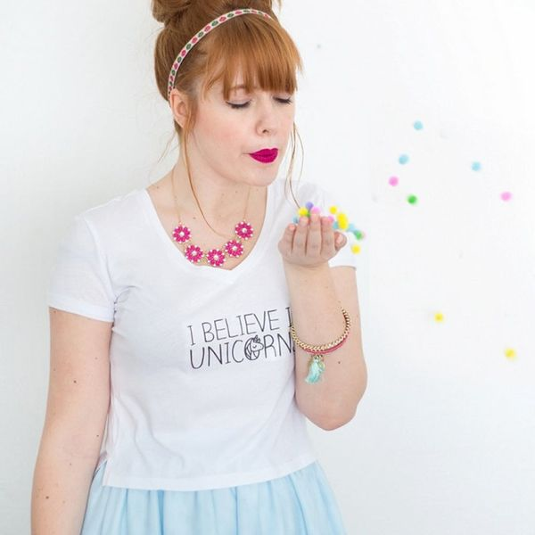 How to DIY 2 Magical Unicorn Tees in 5 Simple Steps