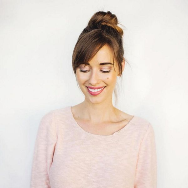This Lazy-Girl Hair Trend Will Convince You to Get Bangs
