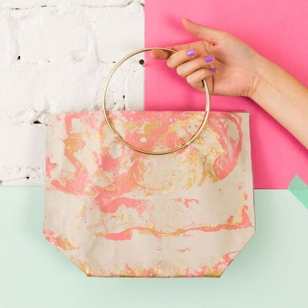 How to Make a $325 Marbled Leather Bag for $25