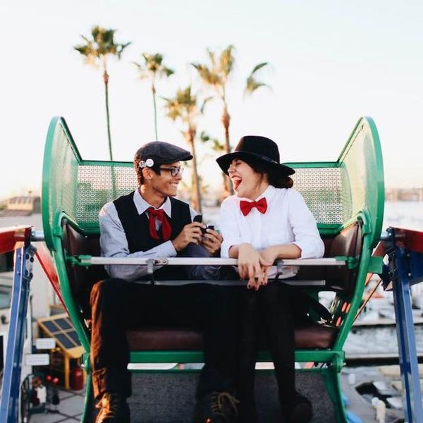 This Couple's Mary Poppins-Inspired Ferris Wheel Proposal Is Up to the Highest Heights