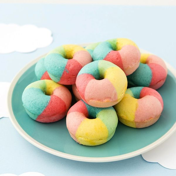 These Mini Rainbow Donuts Are the Cutest Things You'll Ever Make